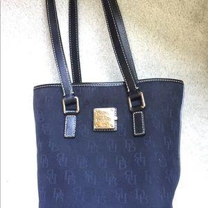 Authentic Dooney & Bourke Black Canvas Bucket Bag